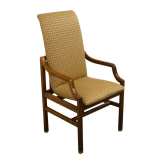 Henredon Mid-Century Modern Solid Walnut Dining Arm Chair For Sale