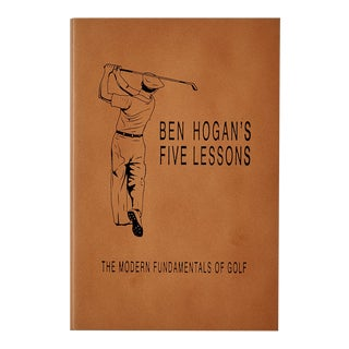 """""""The Modern Fundamentals of Golf"""" by Ben Hogan, Bonded Leather Book in Tan For Sale"""