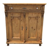 Image of 1900s Traditional Style Pine Cabinet For Sale