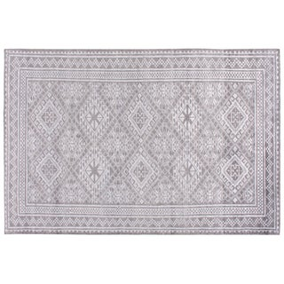 Stark Studio Rugs Contemporary Piper Silver Wool Rug - 9′ × 12′ For Sale