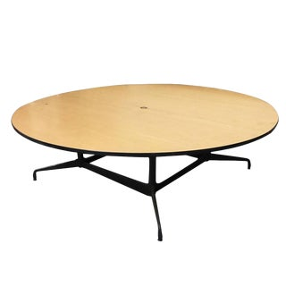 Charles and Ray Eames Round Conference Table by Herman Miller