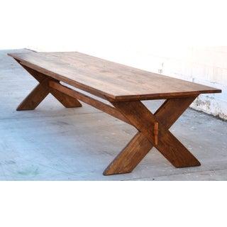 Custom X-Trestle Table in Reclaimed Heart Pine Preview