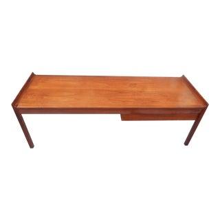 Vintage Mid-Century Danish Modern Solid Walnut Coffee Table For Sale