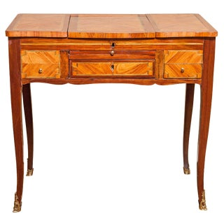 18th Century Louis XV Tulipwood and Amaranth Table De Toilette For Sale