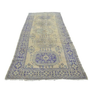 Turkish Handwoven Oushak Runner Rug - 4′8″ × 11′6″