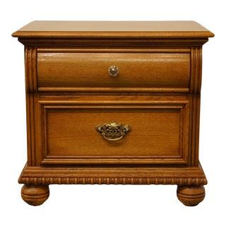Lexington Furniture Oak 2 Drawer Nightstand For Sale