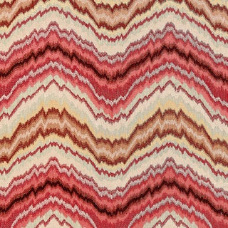 Scalamandre Bergamo Embroidery Fabric in Mulberry Sample For Sale