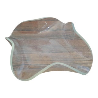 Mid-Century Modern Lucite Molded Small Trinket Jewelry Dish Tray For Sale