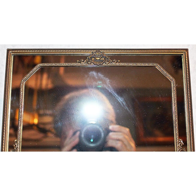 Rococo Standing Vanity Mirror For Sale - Image 3 of 4