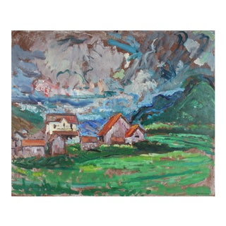 Carmel Countryside Landscape, Oil Painting, Mid-Century For Sale