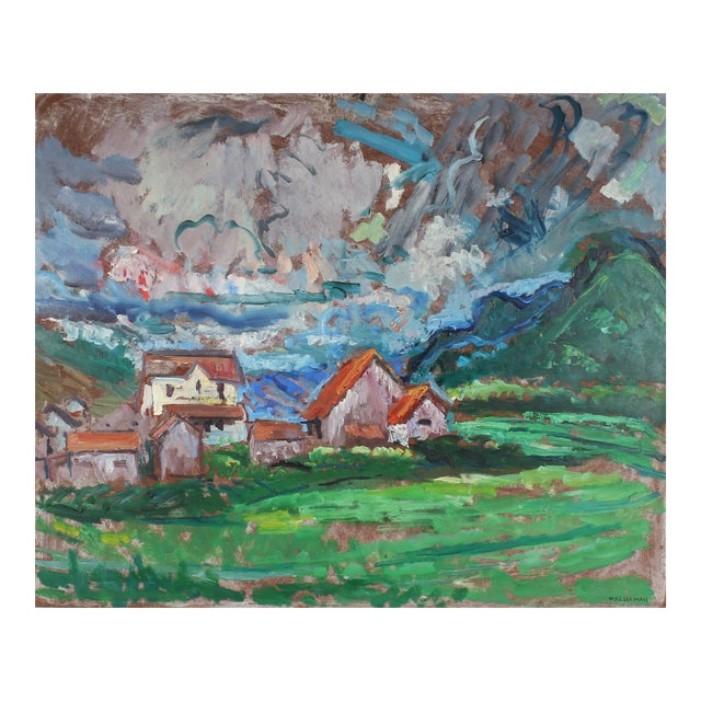 Mid-Century Carmel Countryside Landscape Oil Painting For Sale