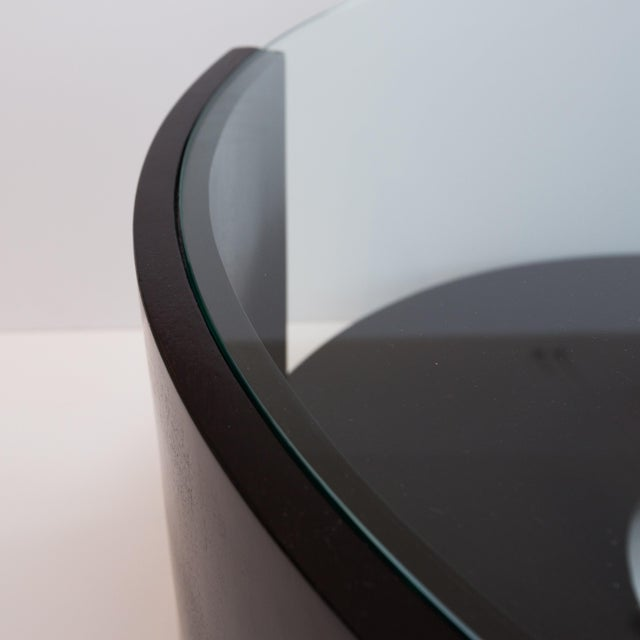 Modern Round Glass-Topped Coffee Table For Sale - Image 4 of 6