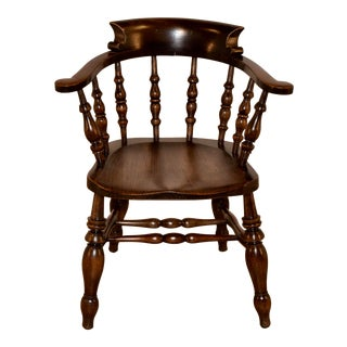 19th C English Captain's Chair For Sale