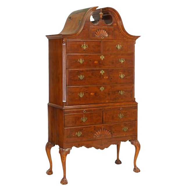 Hand Crafted 19th Century Chippendale Style Highboy For Sale
