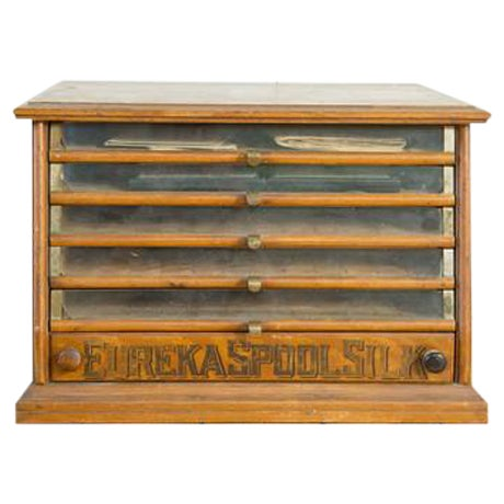 Antique Victorian Eureka Silk Spool Cabinet - Image 1 of 8