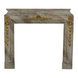 Early 19th Century French Louis XVI Marble Fireplace For Sale