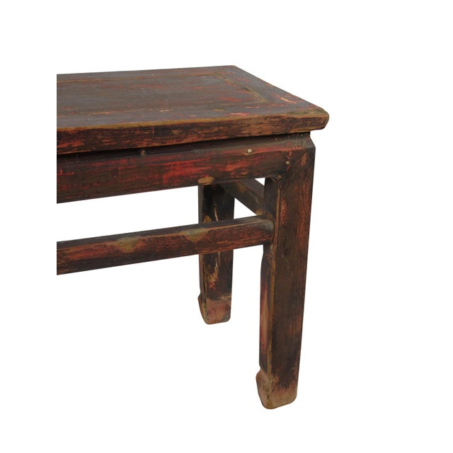 Rustic Shandong Elm Bench For Sale - Image 4 of 7