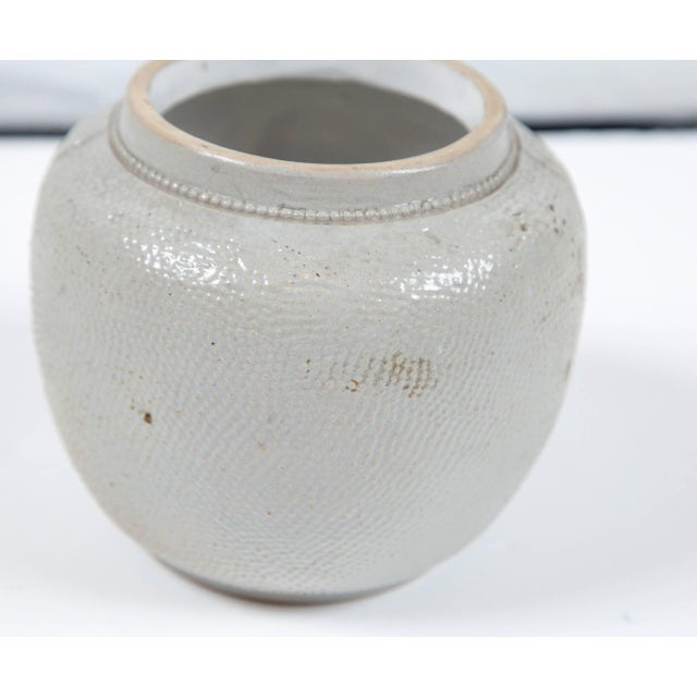 19th Century Blue Glaze Stoneware Covered Jar For Sale In New York - Image 6 of 9