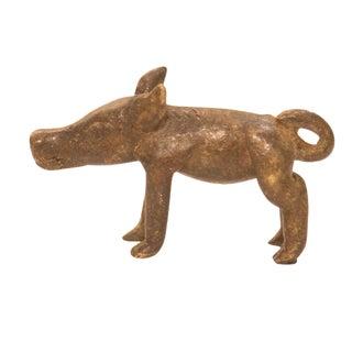 Vintage Dark Pig Bronze Gold Weight For Sale