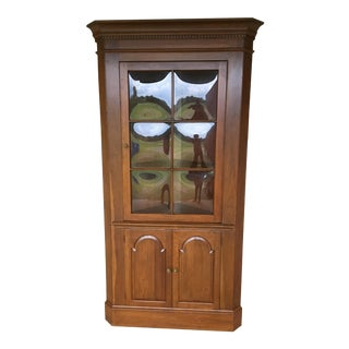 20th Century British Colonial Pennsylvania House Champagne Finish Display Cabinet