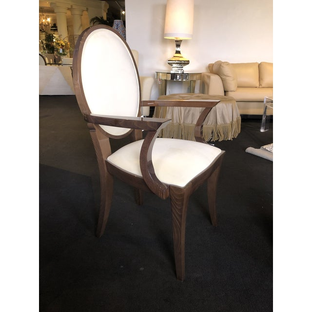 Off-white Modern Ultra Suede Ello Italian Chairs - Set of 6 For Sale - Image 8 of 13
