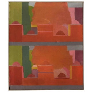Stuart Egnal Modernist Abstract Expressionist Cityscape Painting For Sale