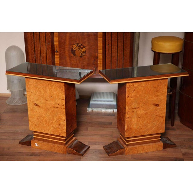 Black Pair of French Art Deco Side Tables For Sale - Image 8 of 10