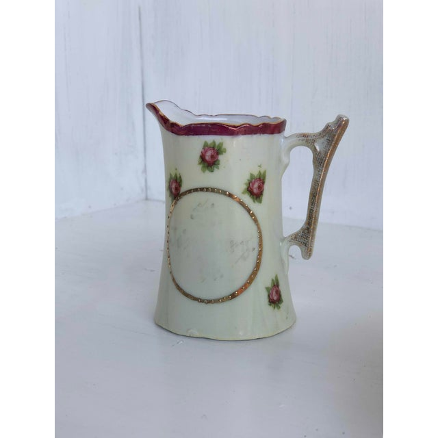Rose Colclough Creamer, Tea Cup and Saucer Set For Sale - Image 8 of 12