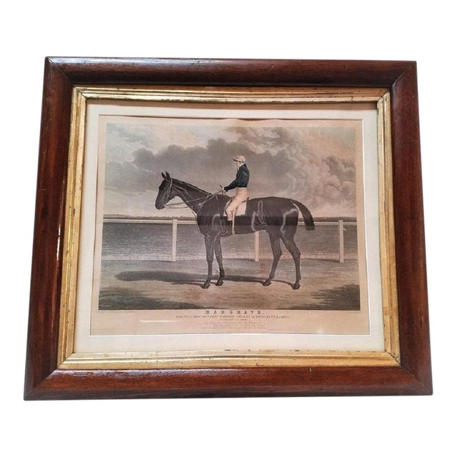 "Early 19th Century ""Margrave"" Aquatint Engraving by John Frederick Herring Snr For Sale"