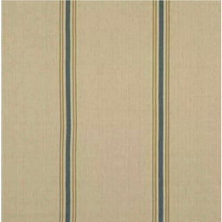 """Traditional Stamford Stripe CL Prairie Blue by Ralph Lauren - 36 x 54"""" For Sale"""