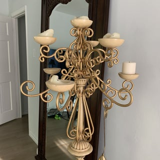 Vintage Gold Wrought Iron Candelabra Preview