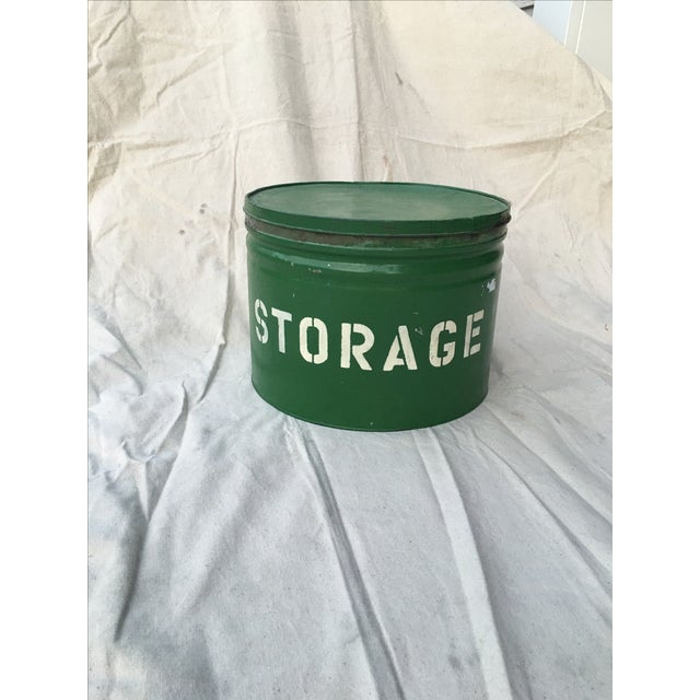 Antique Green Storage Box - Image 2 of 3