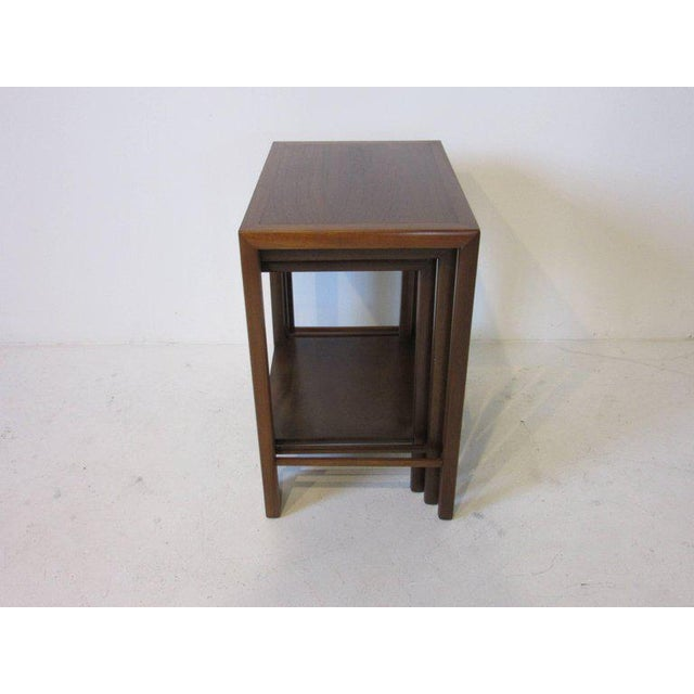 Superb harvey probber styled rose wood and walnut nesting tables harvey probber styled rose wood and walnut nesting tables image 3 of 5 watchthetrailerfo