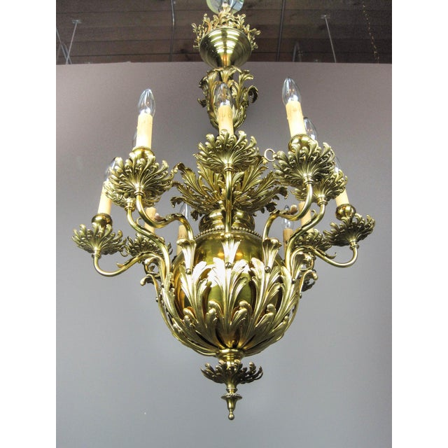 Distinguished gibson louis xv brass chandelier 12 light decaso gibson louis xv brass chandelier 12 light image 6 of aloadofball Gallery