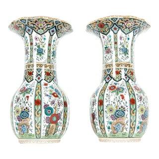 Vintage Porcelain Dutch Vases - a Pair For Sale