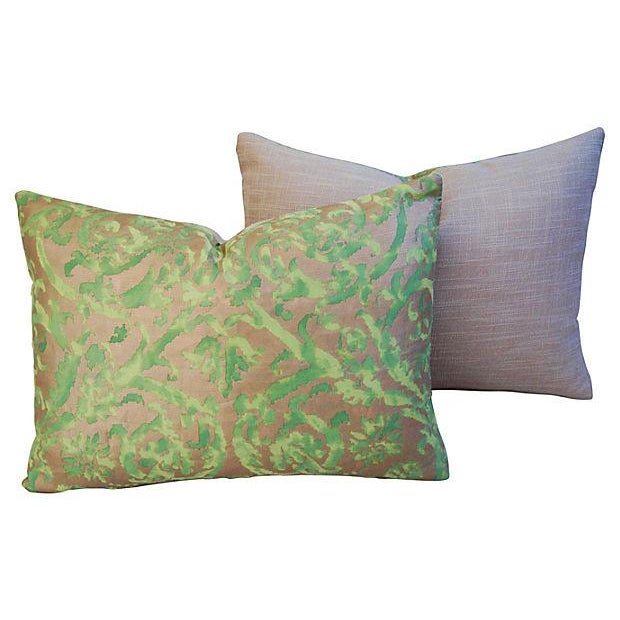 Designer Italian Fortuny Farnese Pillows - A Pair - Image 2 of 7