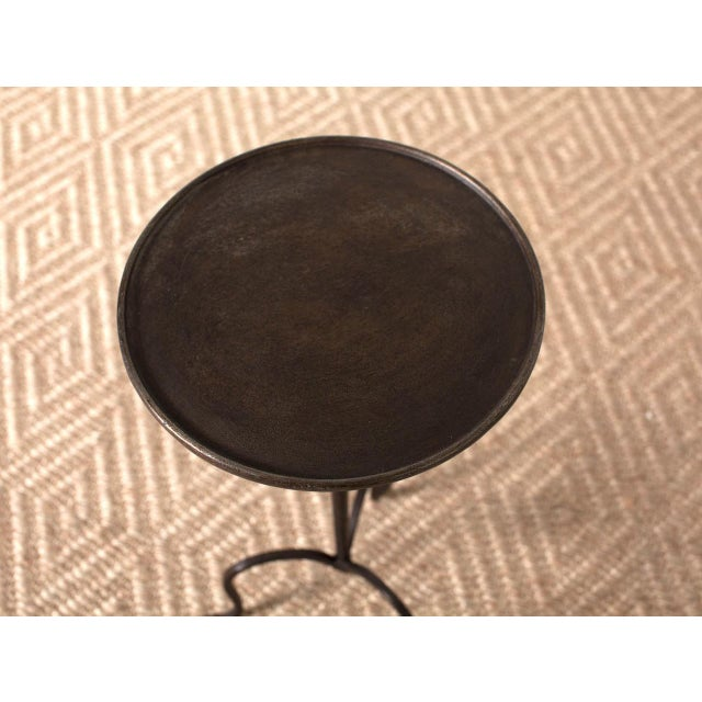 Black Iron Martini Table For Sale - Image 4 of 5