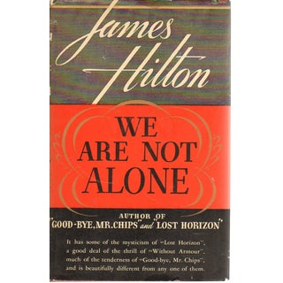 "1937 ""FIrst Edition. We Are Not Alone"" Collectible Book For Sale"