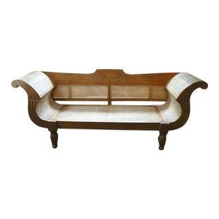 1940s Traditional Plantation Cane Sofa