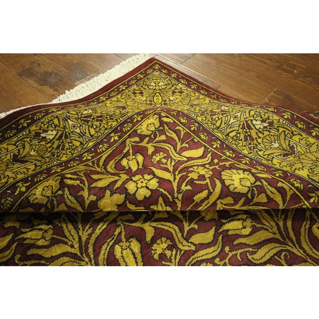 """Suzani Collection Oushak Floral Rug - 6'2"""" x 8'10"""" - Image 10 of 10"""