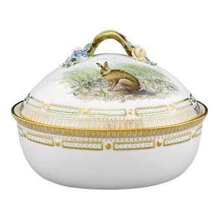 Flora Danica Game Series Covered Vegetable Dish