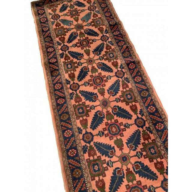 Persian Pasargad Rust Persian Hand Knotted Lilihan Runner For Sale - Image 3 of 7