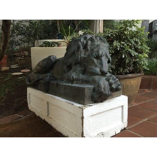 Antique Bronze Lion Sculptures - A Pair - Image 4 of 9