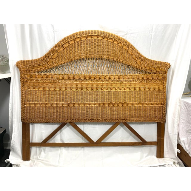 1960s Queen Size Wicker Headboard For Sale - Image 13 of 13