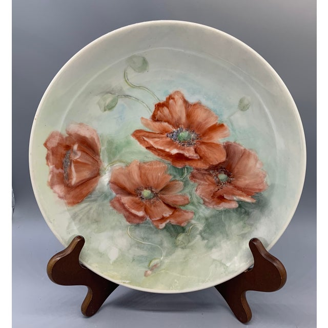 1940s Hand Painted Floral Decorative Wedding Plates - Set of 7 For Sale - Image 4 of 13