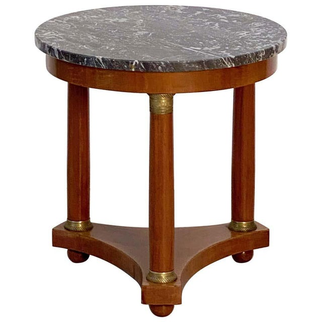 French Marble-Top Table or Guéridon in the Empire Style For Sale - Image 13 of 13