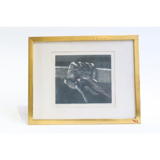 Vintage Signed Hand Etching - Image 2 of 4