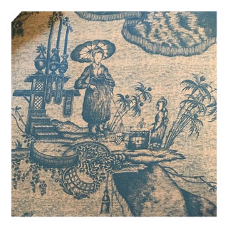 Michael S Smith Jasper Chinese Toile Fabric - 2 Yards For Sale