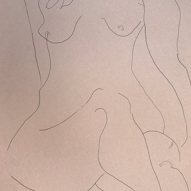Figurative Nude Line Drawing For Sale - Image 3 of 3