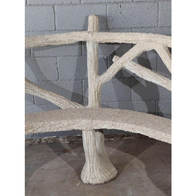 Faux Bois Curved Bench For Sale - Image 4 of 10